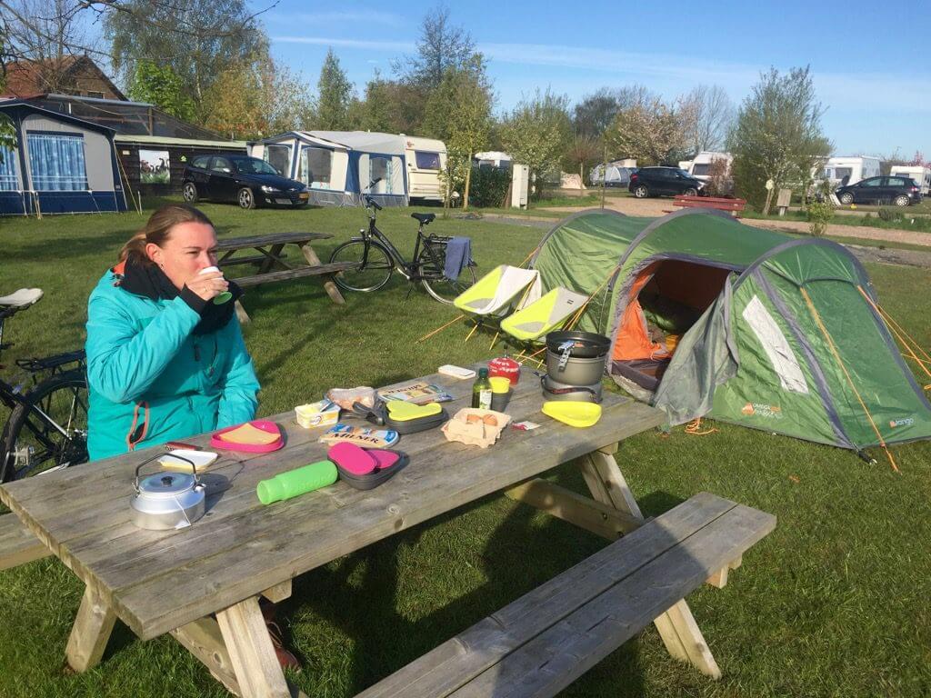 camping 't omelette - Ommeren - Lingeroute - Fietstocht