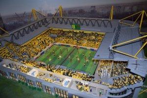 Voetbalstadion Lego Miniworld discovery center