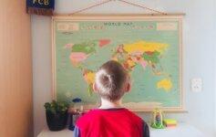 Wereldkaart - Fotocadeau - Vaders op Reis