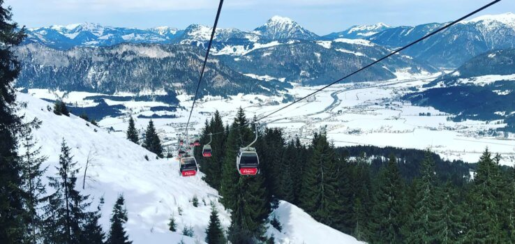 Gondellift in sankt Johann in Tirol
