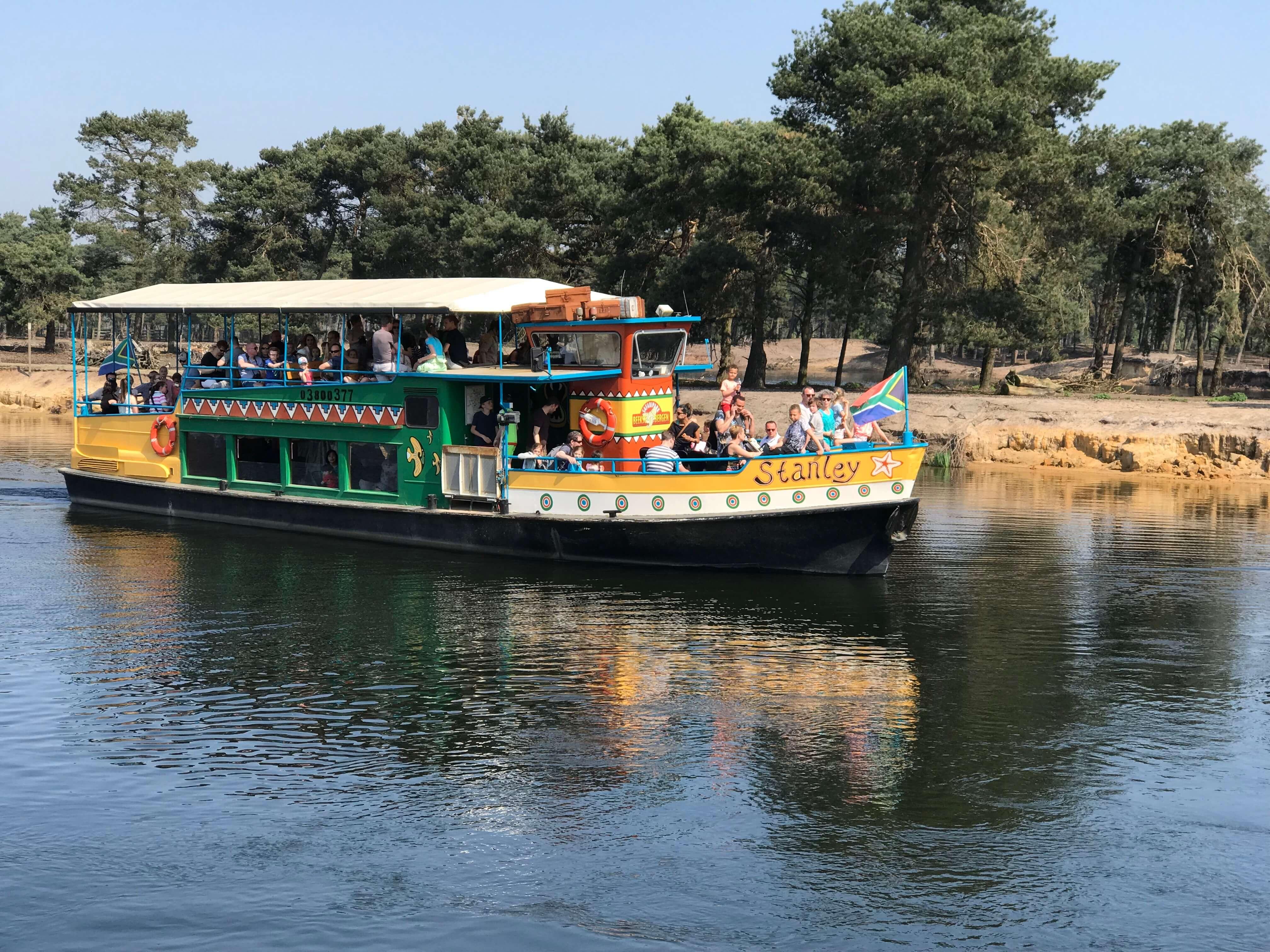 Safariboot in de Beekse Bergen - Safari-resort